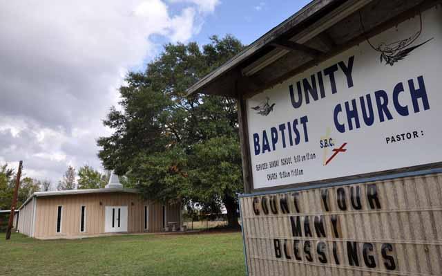 Tag 49 114 Von kurz vor Louisiana bis Florida gibt es extrem viele Kirchengemeinden.