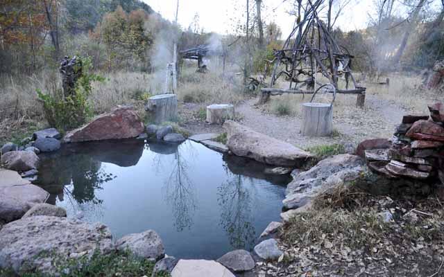 Tag 20 77 bis 79 Die Gila Hot Springs sind Becken, die mit heißem Wasser gefüllt werden, das aus einer natürlichen Quelle kommt.