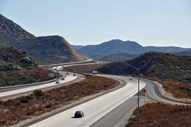 Tag 4 8 Manchmal musste ich auf die Interstate (Autobahn), weil es keine Straßenalternative gab.