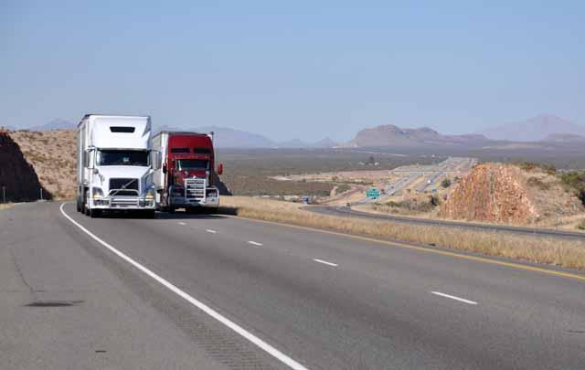 Tag 26 92 Ich musste vor Sierra Blanca mal wieder auf die Interstate.